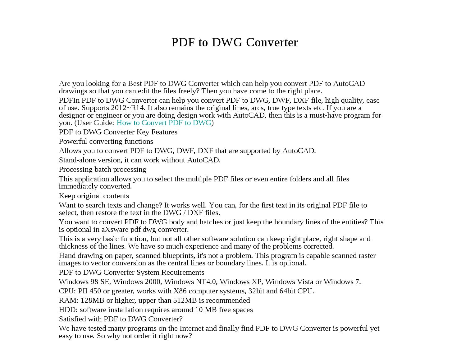 how to change dwg to pdf