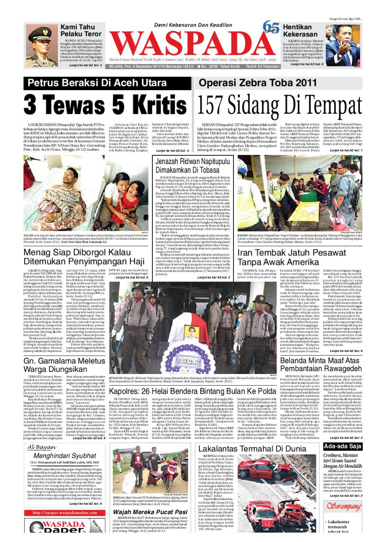 Waspada Selasa 6 Desember 2011 By Harian Waspada Issuu