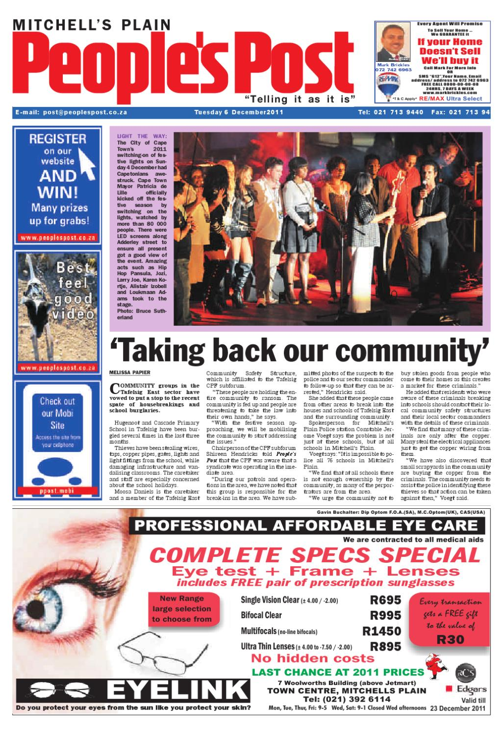 Peoples Post Mitchells Plain 6 December 2011 by People's