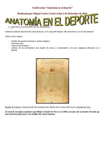Anatomía en el deporte by Jorge Torrente - issuu