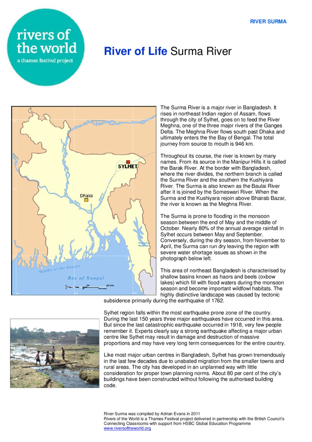 Surma River By Ralph Genang Solutions GmbH Issuu - Country with most rivers in the world