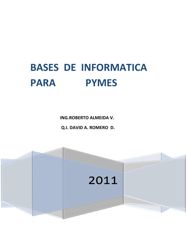 Bases de Informática para las Pymes by ROBERTO ALMEIDA - issuu