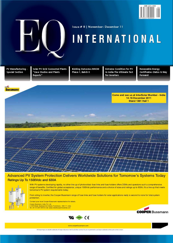 EQ International Nov/Dec 2011 : Intersolar India Special Edition by ...