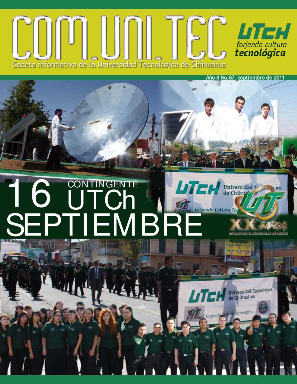 Gaceta Com Uni Tec No 87 Septiembre 2011 By Universidad  # Muebles Batista Chihuahua