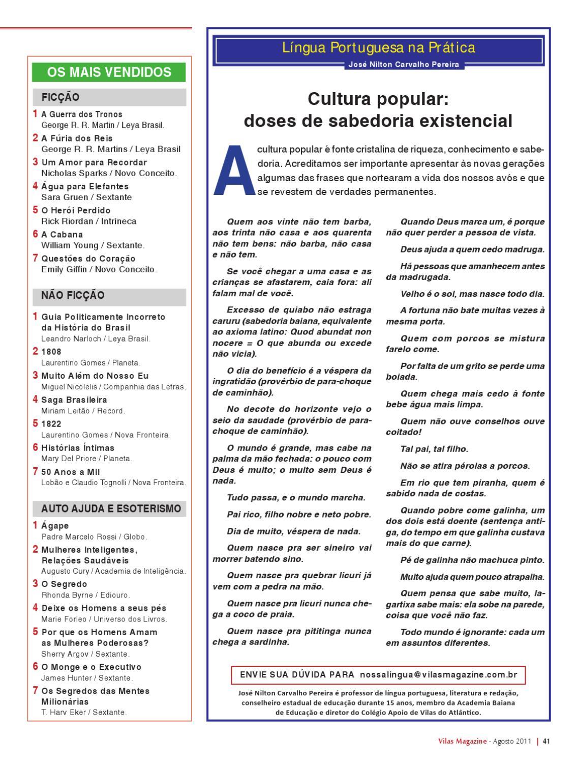 Vilas Magazine A Revista De Lauro De Freitas Ed 151 Agosto De