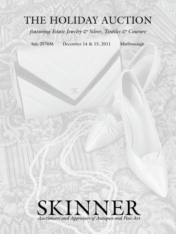 cfa654d2d7e Holiday Auction featuring Estate Jewelry & Silver and Textiles & Couture |  Skinner Auction 2576M