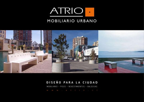 Atrio mobiliario urbano by esteban mur a issuu for Mobiliario b ru