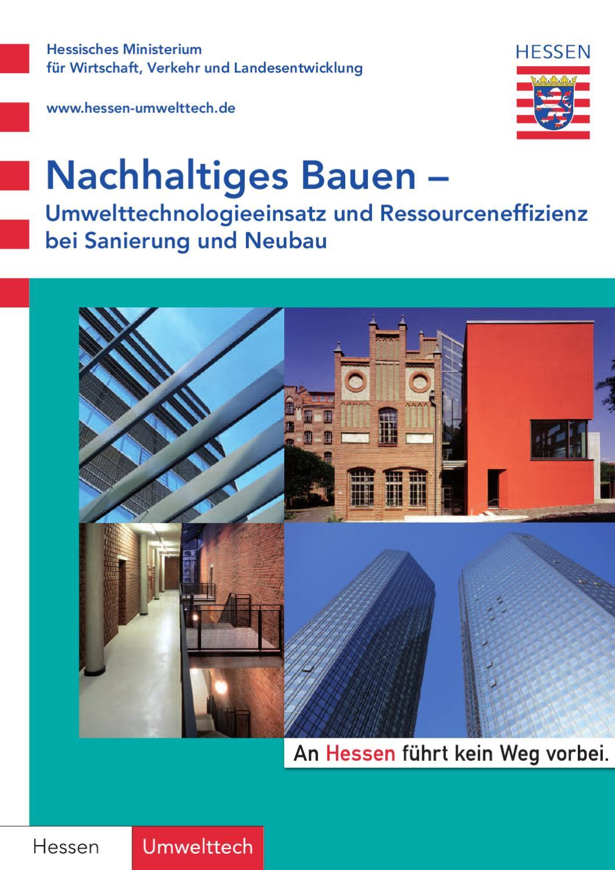 Nachhaltiges Bauen – Umwelttechnologieeinsatz und by Dagmar Dietrich ...