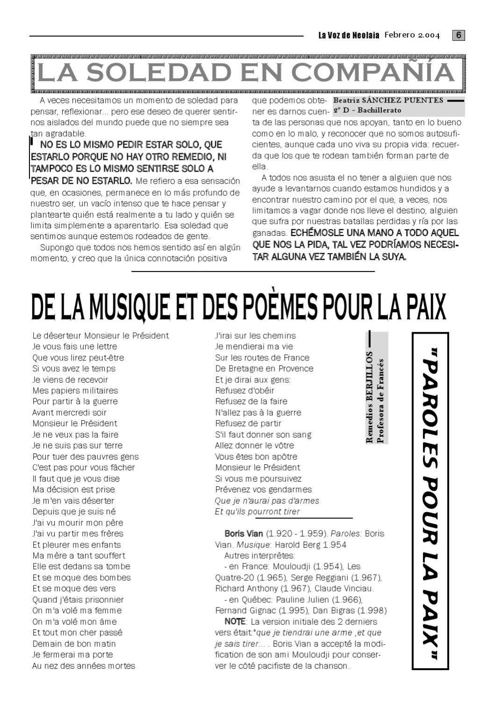La Voz De Neolaia Nº 14 De 25 Febrero 2004 By Luis