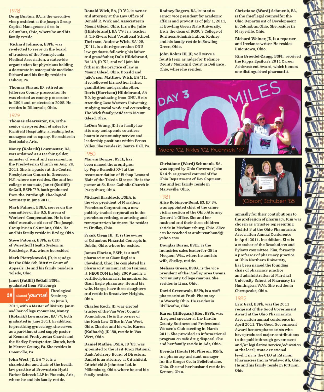 ONU Alumni Journal Fall 2011 By ONU Communications