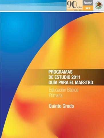Guía para el Maestro. Educación Básica. Primaria. Quinto grado. by ...