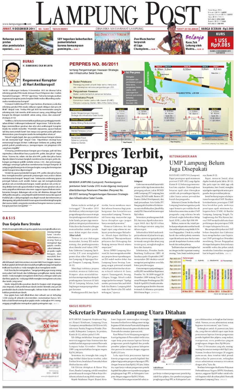 Lampung Post Edisi Jumat 9 Desember 2011 By Issuu Kemeja Anak Tangan Panjang Kotak Orange Variasi 78 Rsby 2854