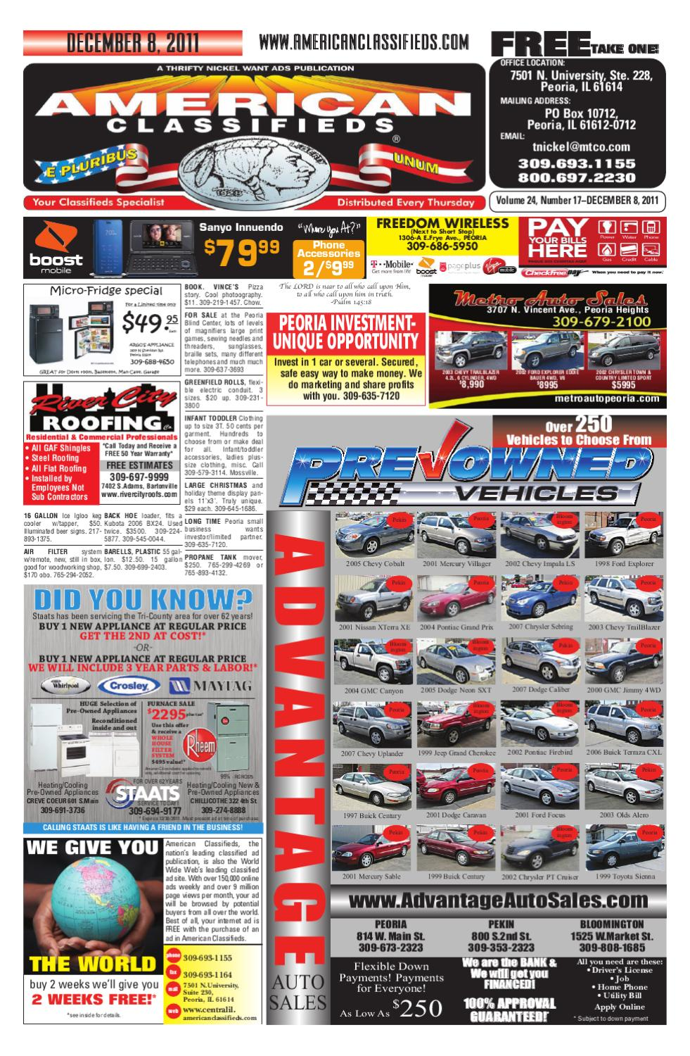 American Classifieds December 8 2011 Peoria Il By