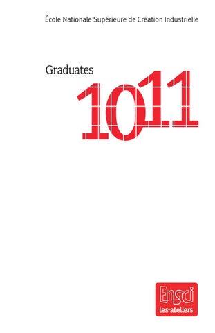 Ensci Graduates Catalog 2010 2011 By Ensci Les Ateliers Issuu