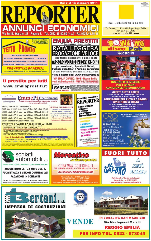 Reporter Annunci 09 dicembre 2011 by Reporter - issuu 90f4d57a2dd