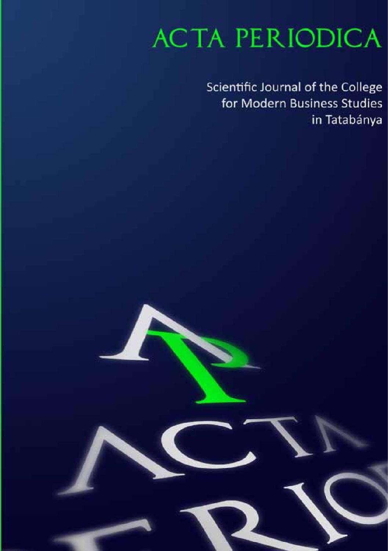 Acta Periodica 2010 by Edutus Főiskola - issuu 4b5b7ab75b