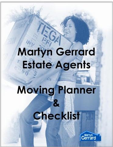 moving planner checklist by martyn gerrard estate agents issuu