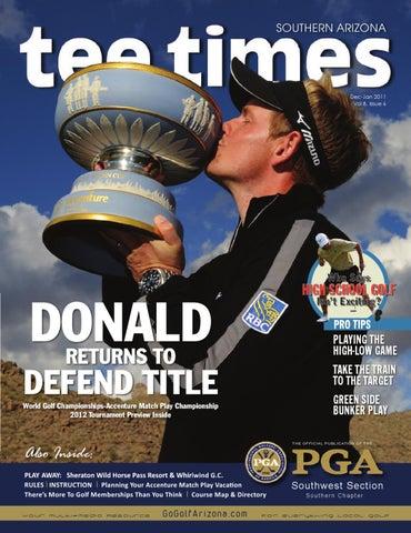 Arizona Golf Magazine Southern Arizona Tee Times Dec Jan 2011 By Gogolfarizona Com Issuu