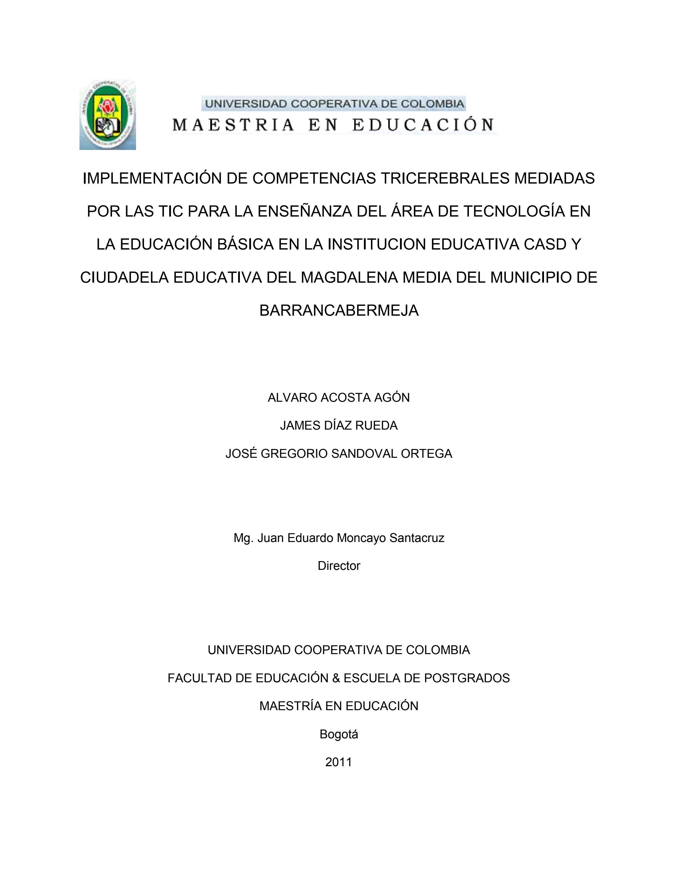 Proyecto de grado para la maestria by jose sandoval - issuu