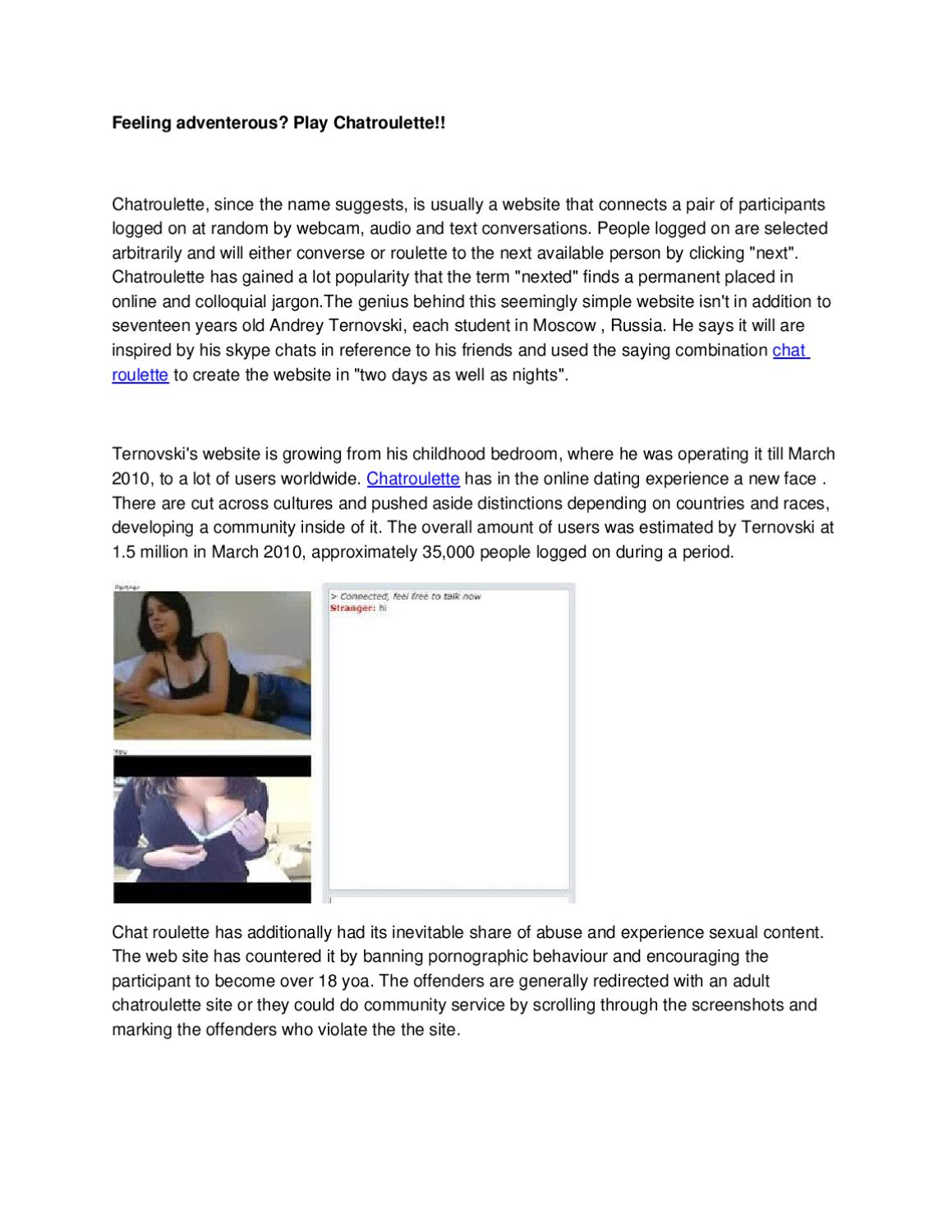 Chatroulette Wocchat Chatroulette And Video Chat
