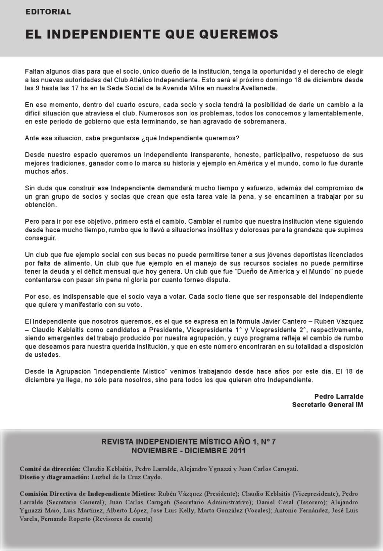 Revista de Independiente Místico N°7 by Independiente Mistico - issuu