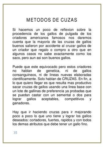 El Arte De Criar Gallos De Pelea By Patrick Heredia Issuu