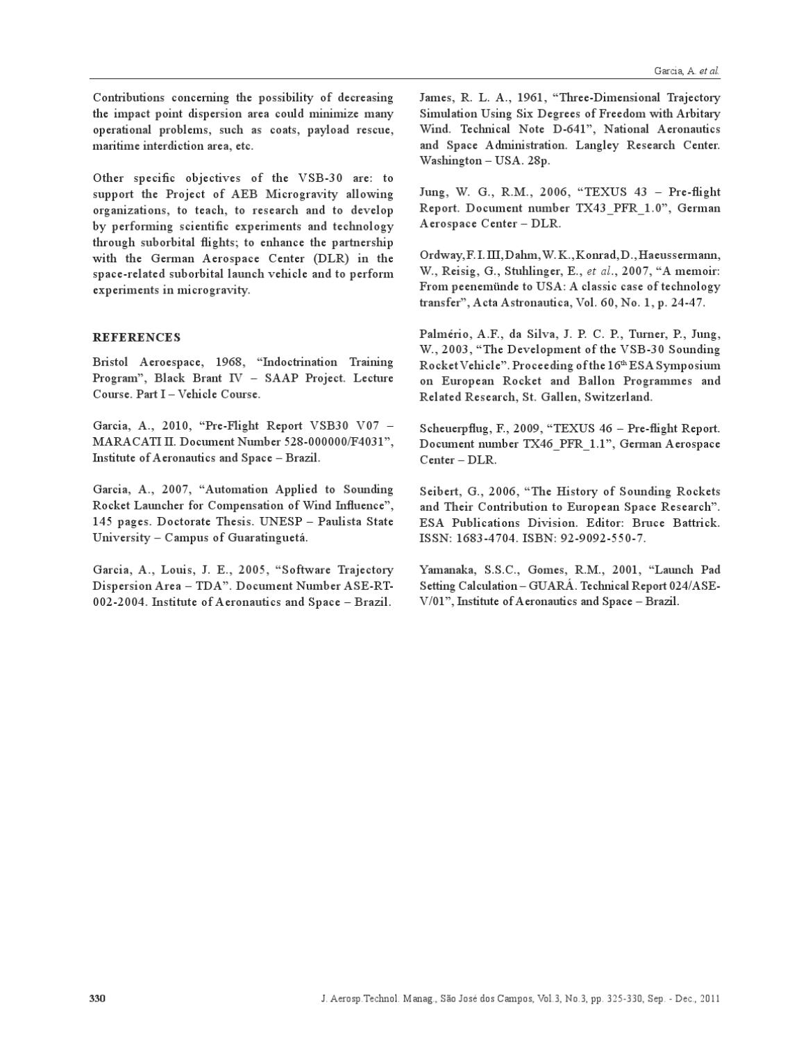 Vol 3 N 3 - Journal of Aerospace Technology and Management