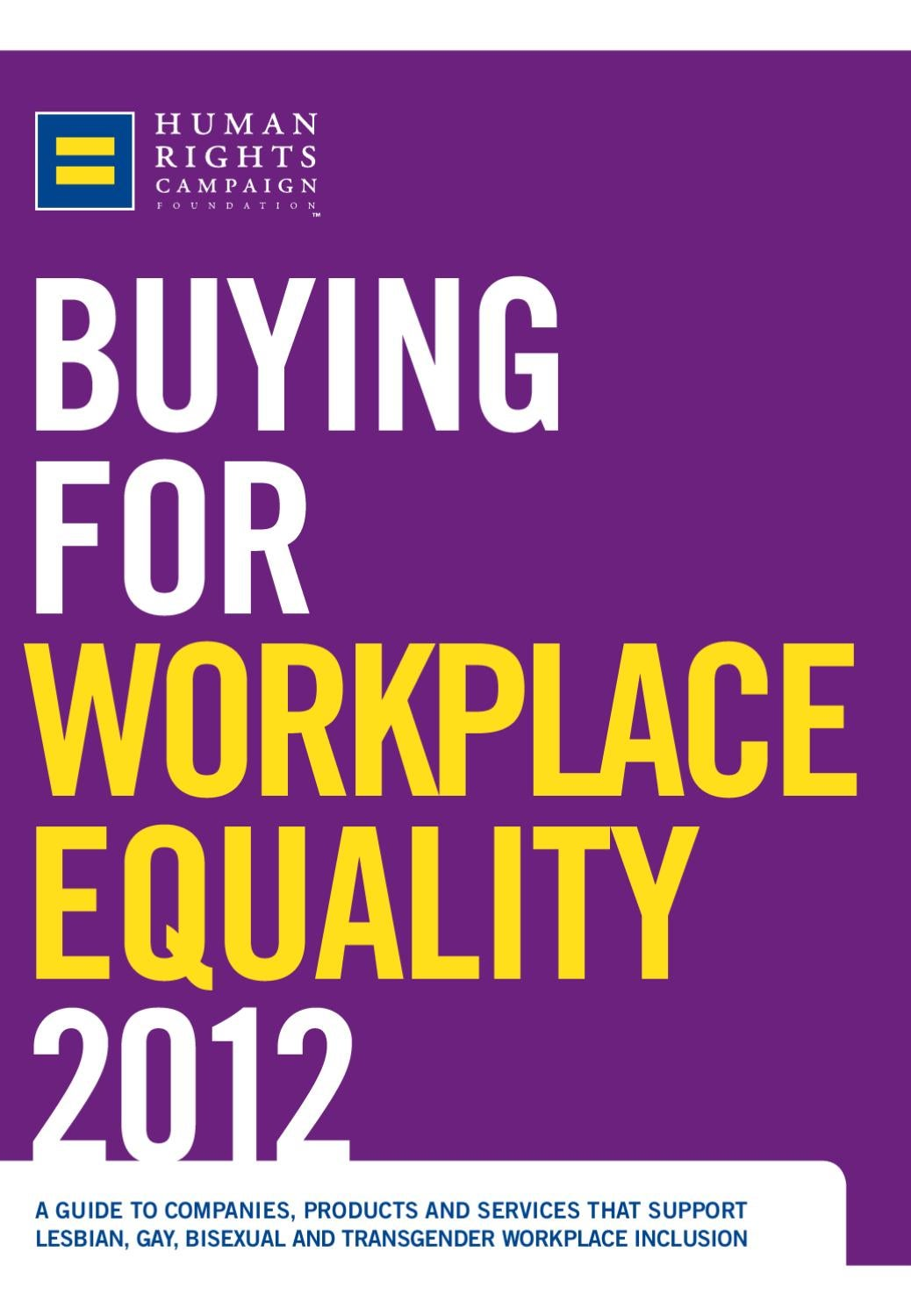 2012 Buyer's Guide by Human Rights Campaign - issuu