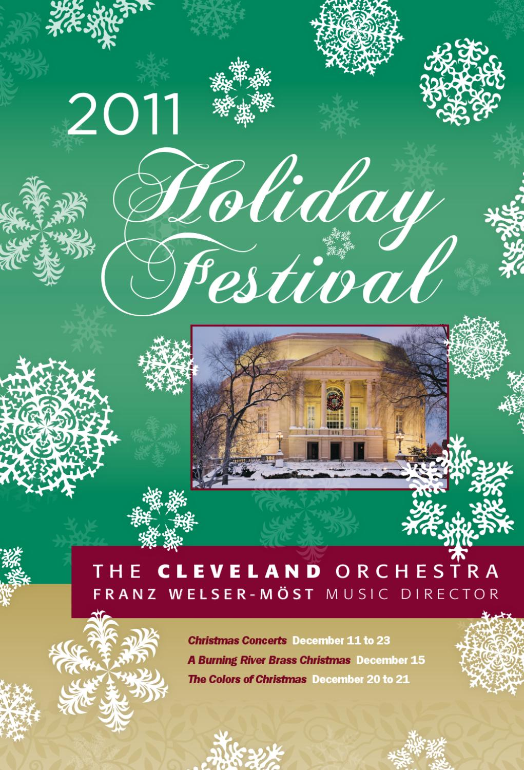 The 2011 Cleveland Orchestra Holiday Festival Program By