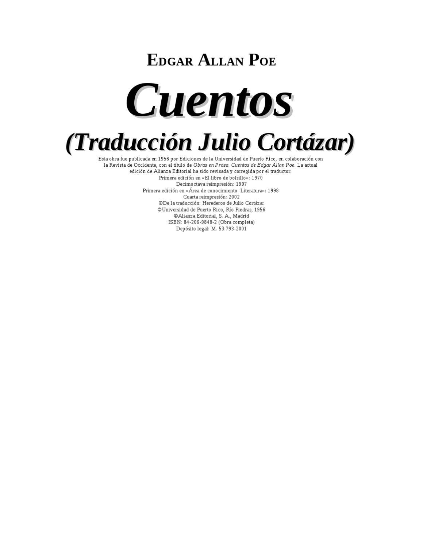 Poe Edgar Allan - Cuentos Completos 1 by Cesar Benigno Valenzuela ...