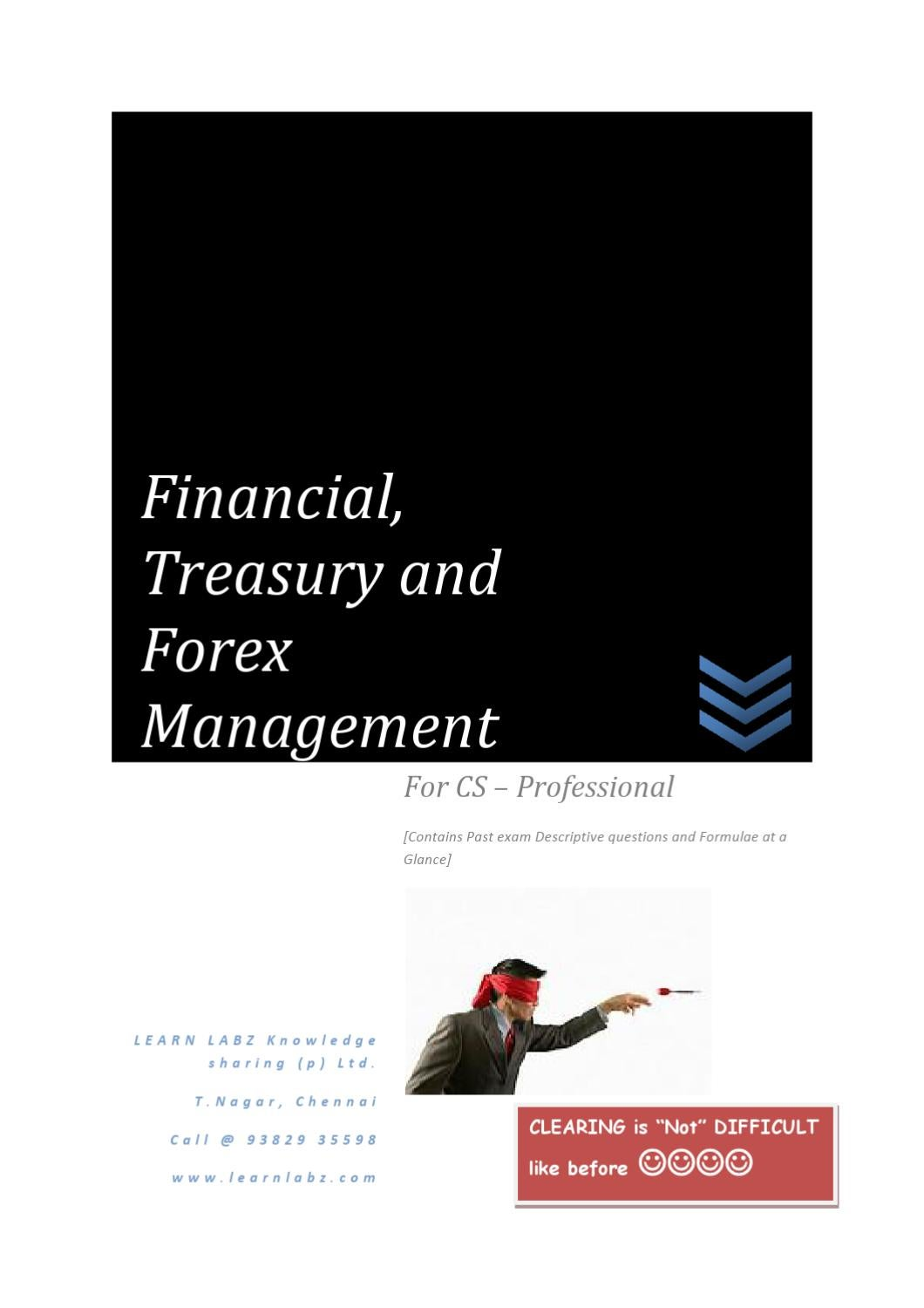 Financial treasury and forex management cs notes