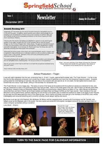 Springfield News December 2011 By Springfield School Issuu