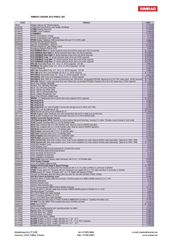 Simrad Leisure 2012 Price list RRP by Roland Silluta - issuu