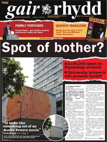 Gair Rhydd Issue 796 By Cardiff Student Media Issuu