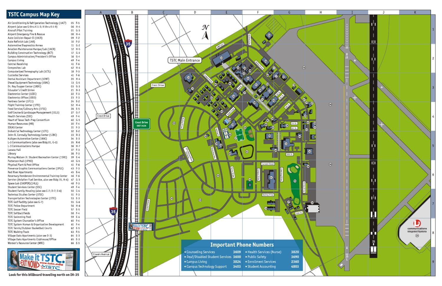 TSTC Waco Campus Map by TSTC Waco   issuu