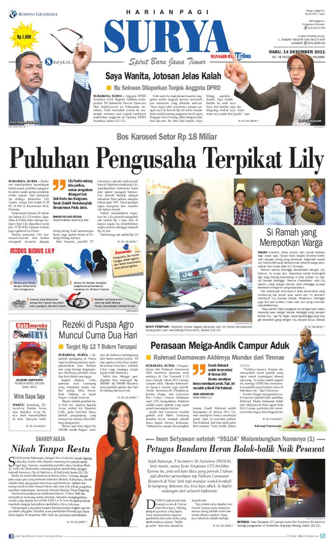 Surya E Paper 14 Desember 2011 By Harian SURYA Issuu