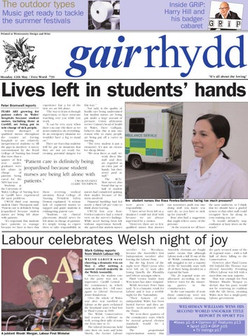 Gair Rhydd Issue 739 By Cardiff Student Media Issuu