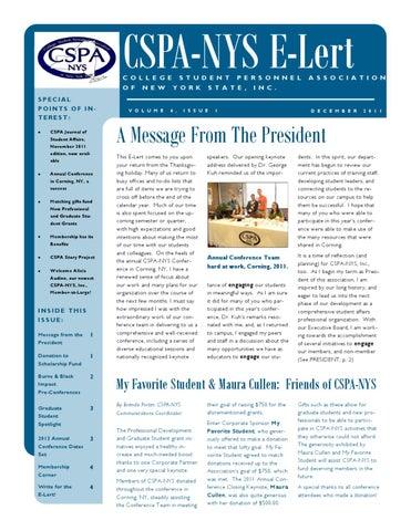 CSPA-NYS, Inc , December E-Lert by Brenda Porter - issuu