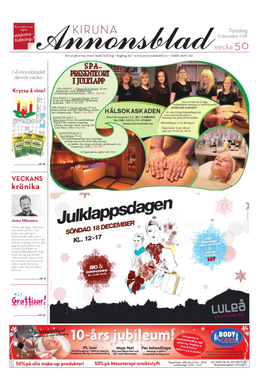 Kiruna Annonsblad 2011 v.50 by Svenska Civildatalogerna AB