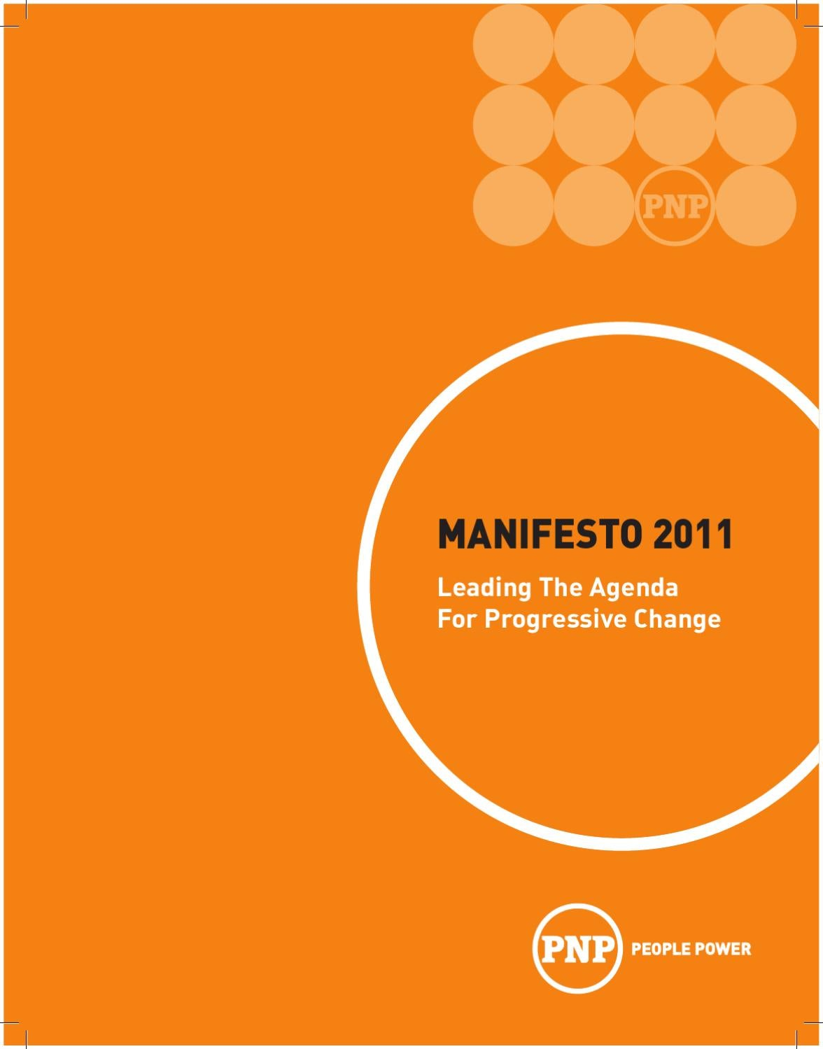 Pnps Manifesto 2011 By The Peoples National Party Issuu Positive Regulator With Pnp Boost
