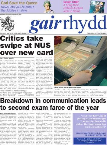 Gair Rhydd Issue 724 By Cardiff Student Media Issuu