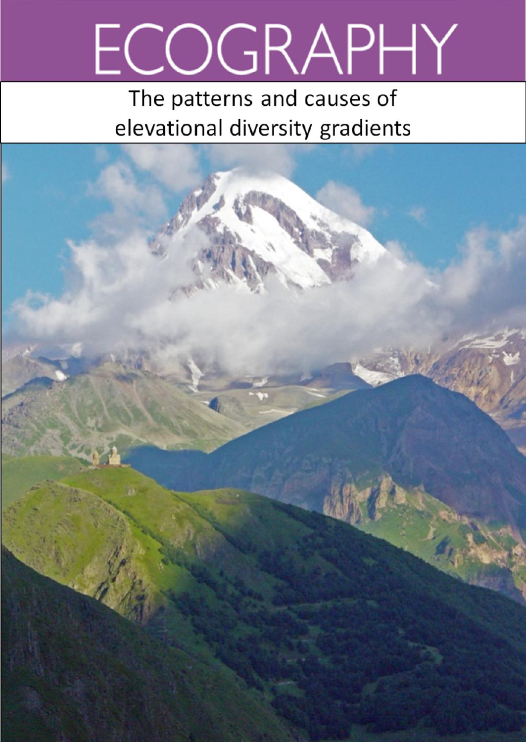 Ecography Virtual Special Issue: The patterns and causes of ...
