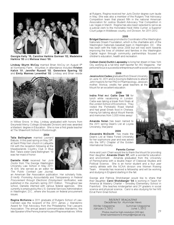 Fall 2011 Mount Magazine by Mount Saint Joseph Academy - Issuu