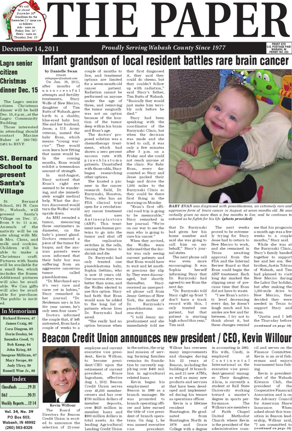 Indiana wabash county lagro - The Paper Of Wabash County 12 14 11 Issue By The Paper Of Wabash County Issuu
