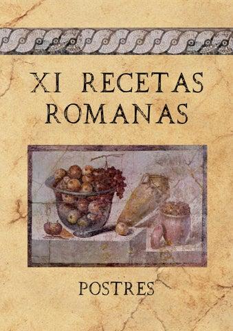 Recetario De Postres Romanos By Cpabarzuza Abarzuza Issuu