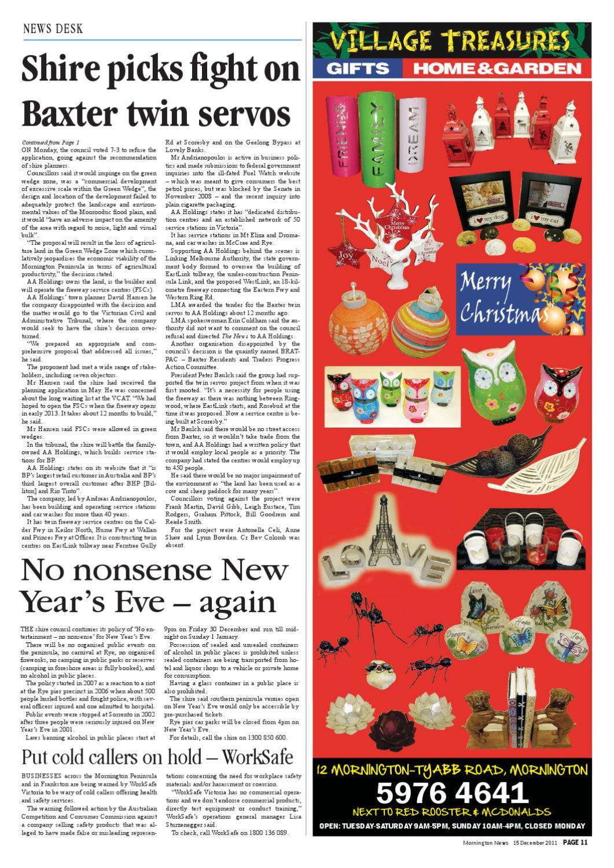 December 15th 2011 by Mornington Peninsula News Group - issuu