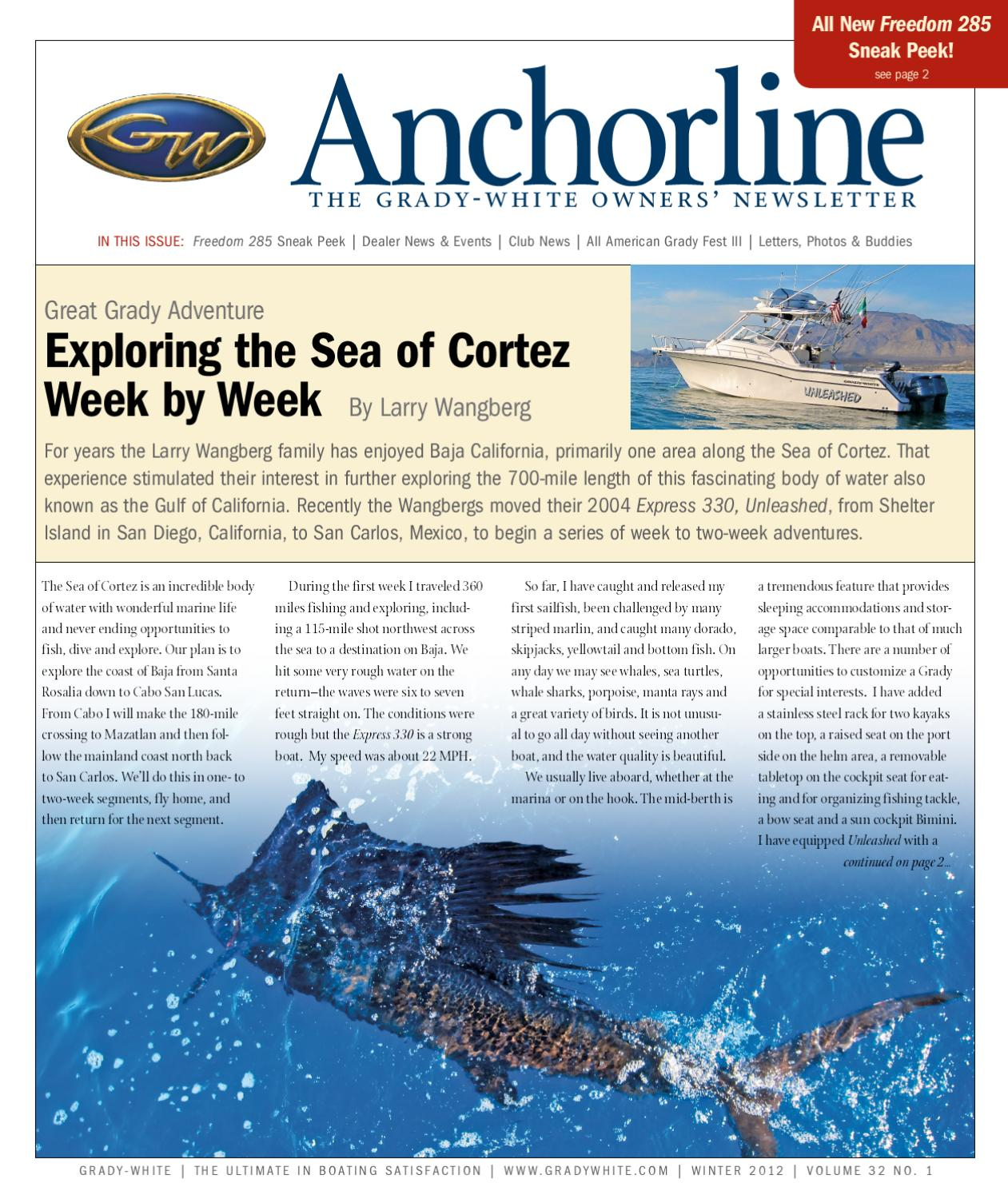 Grady-White Boats Winter 2012 Anchorline (vol  32 no  1) by Grady