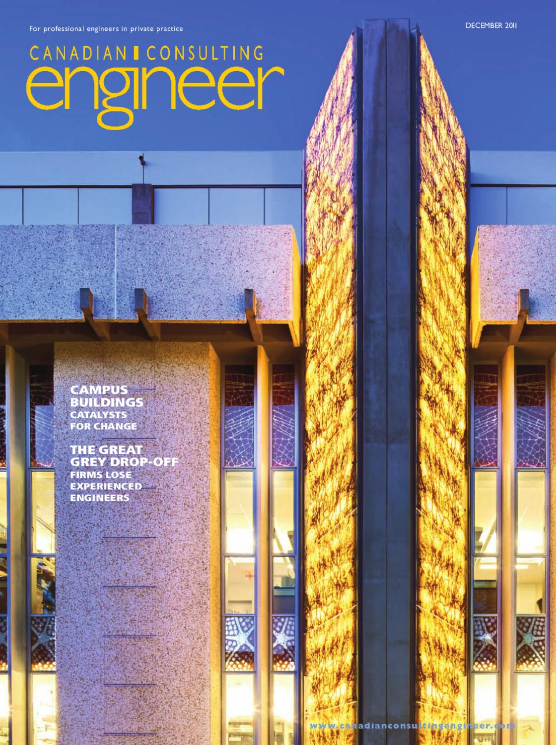 Canadian Consulting Engineer December 2011 by Annex Business Media