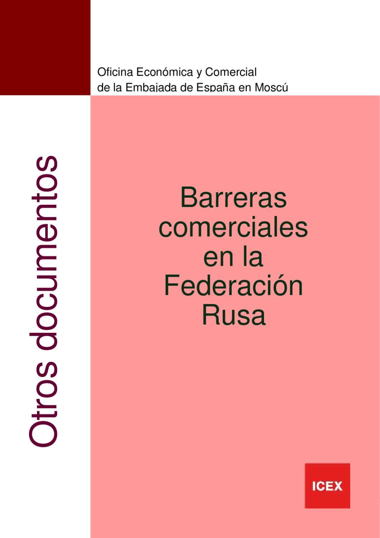 BARRERAS COMERCIALES EN RUSIA