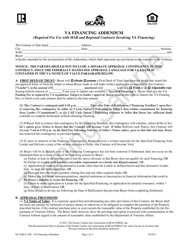 WM1338 VA Financing Addendum 12-1-11 by GCAAR - issuu